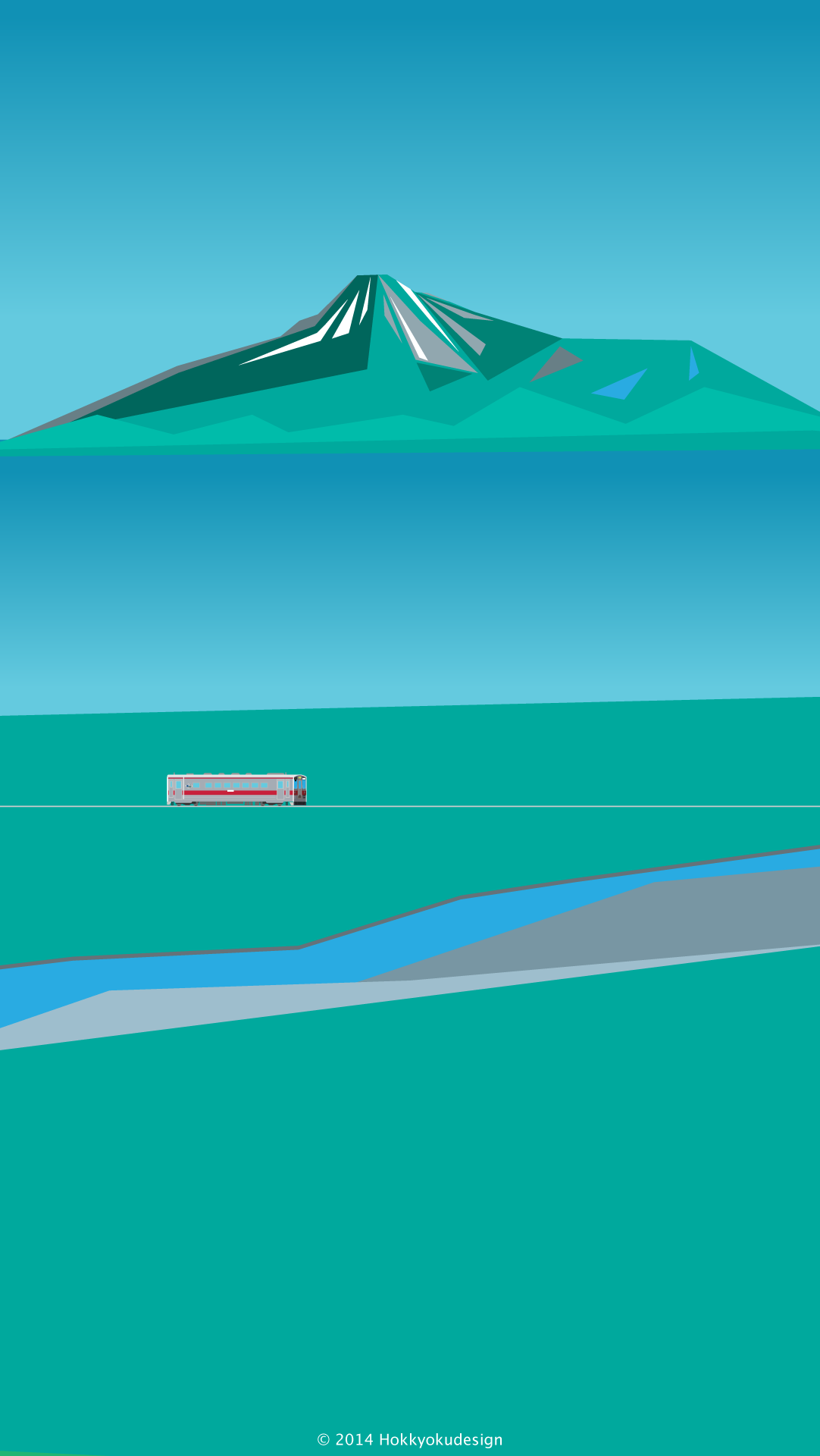 Hd日本のイラスト風景壁紙 夏の宗谷本線 利尻島ハイライト Landscape Of Japan Wallpaper To Iphone