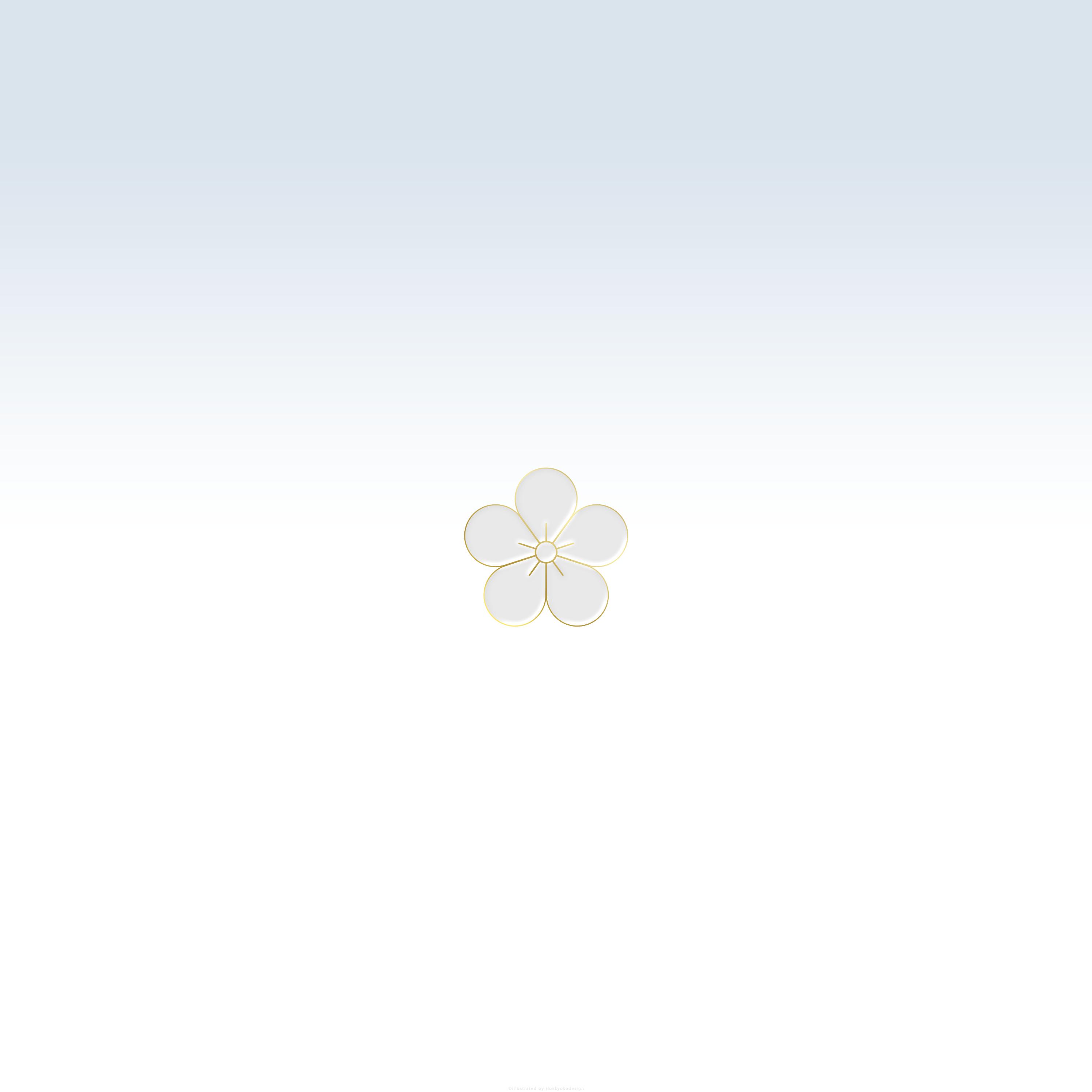 Iphone Android壁紙 梅ひとつ3 シンプルに梅をひとつ配置