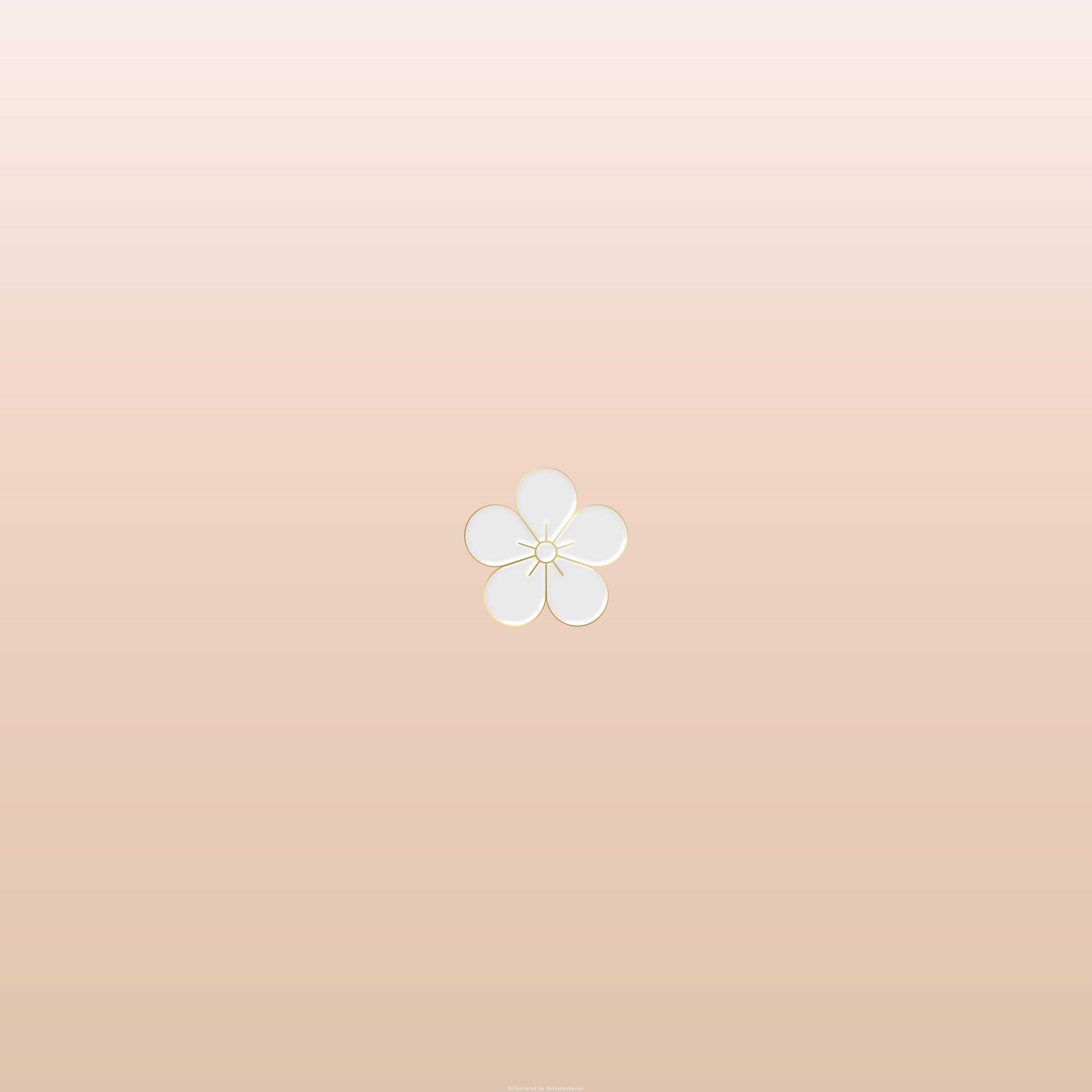 Iphone Android壁紙 梅ひとつ4 シンプルに梅をひとつ配置
