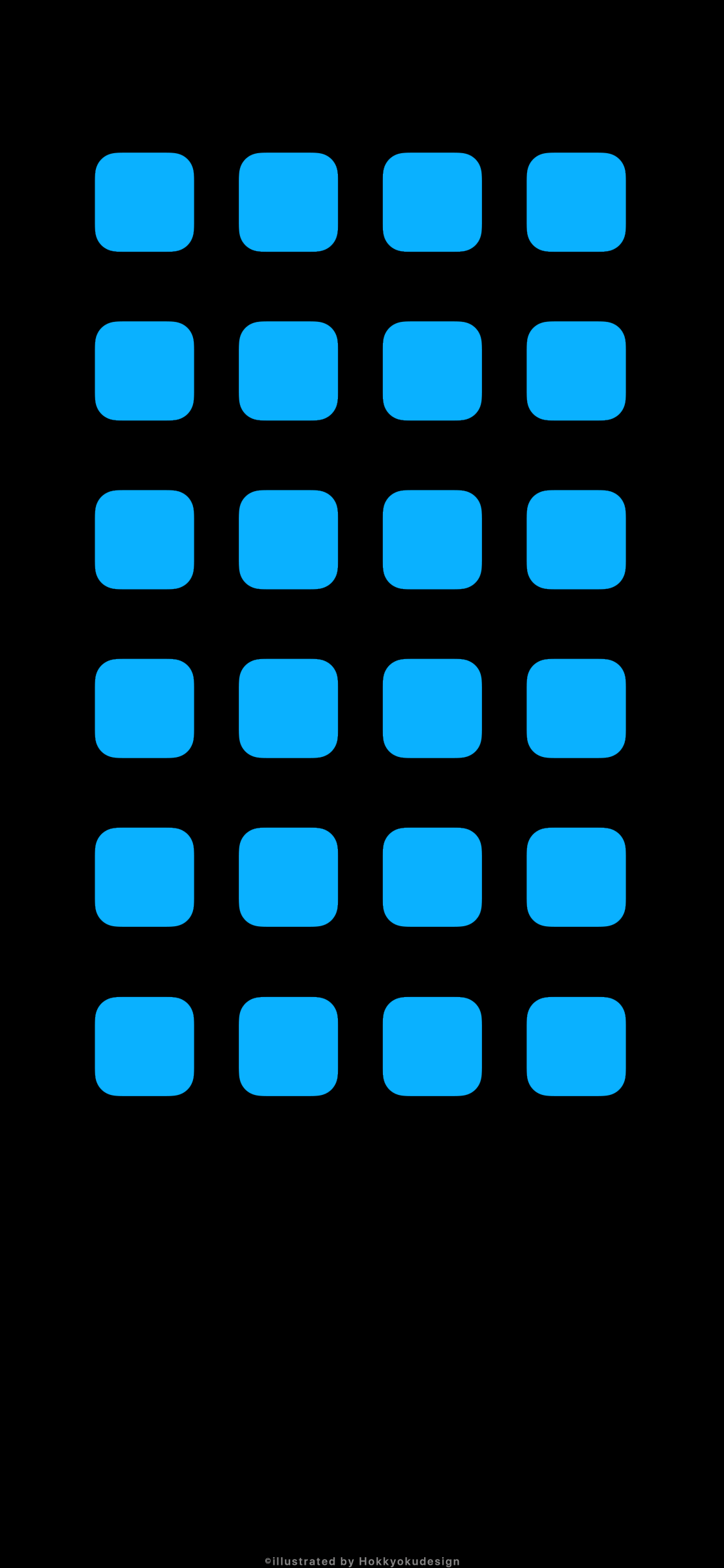 Iphone X壁紙 2 黒地に青背景