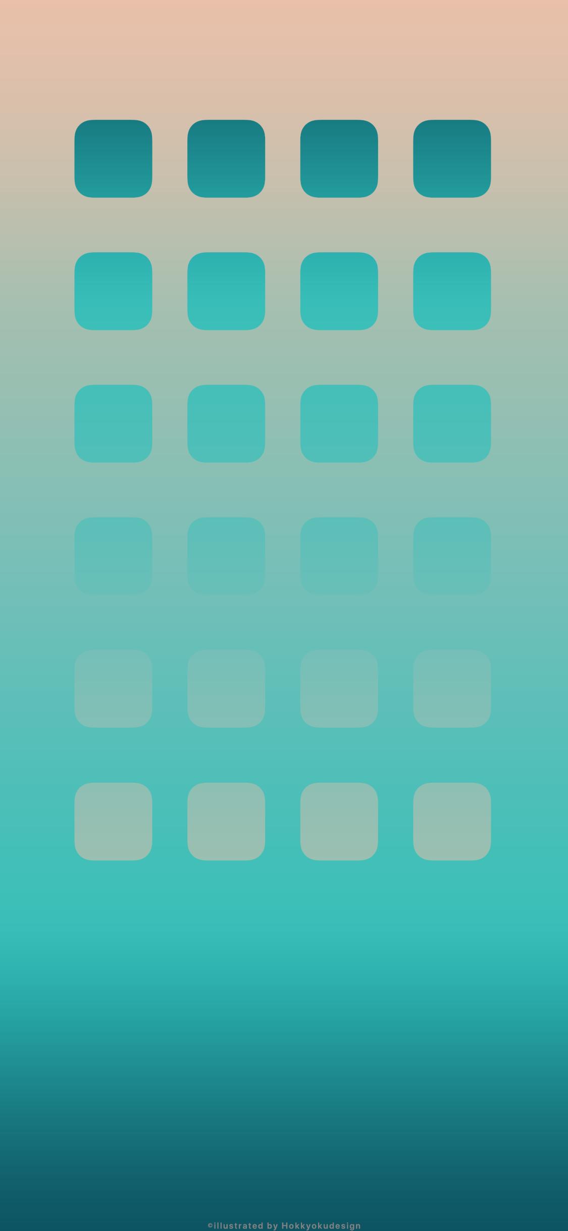 Iphone X壁紙 4 Ios11グラデーション