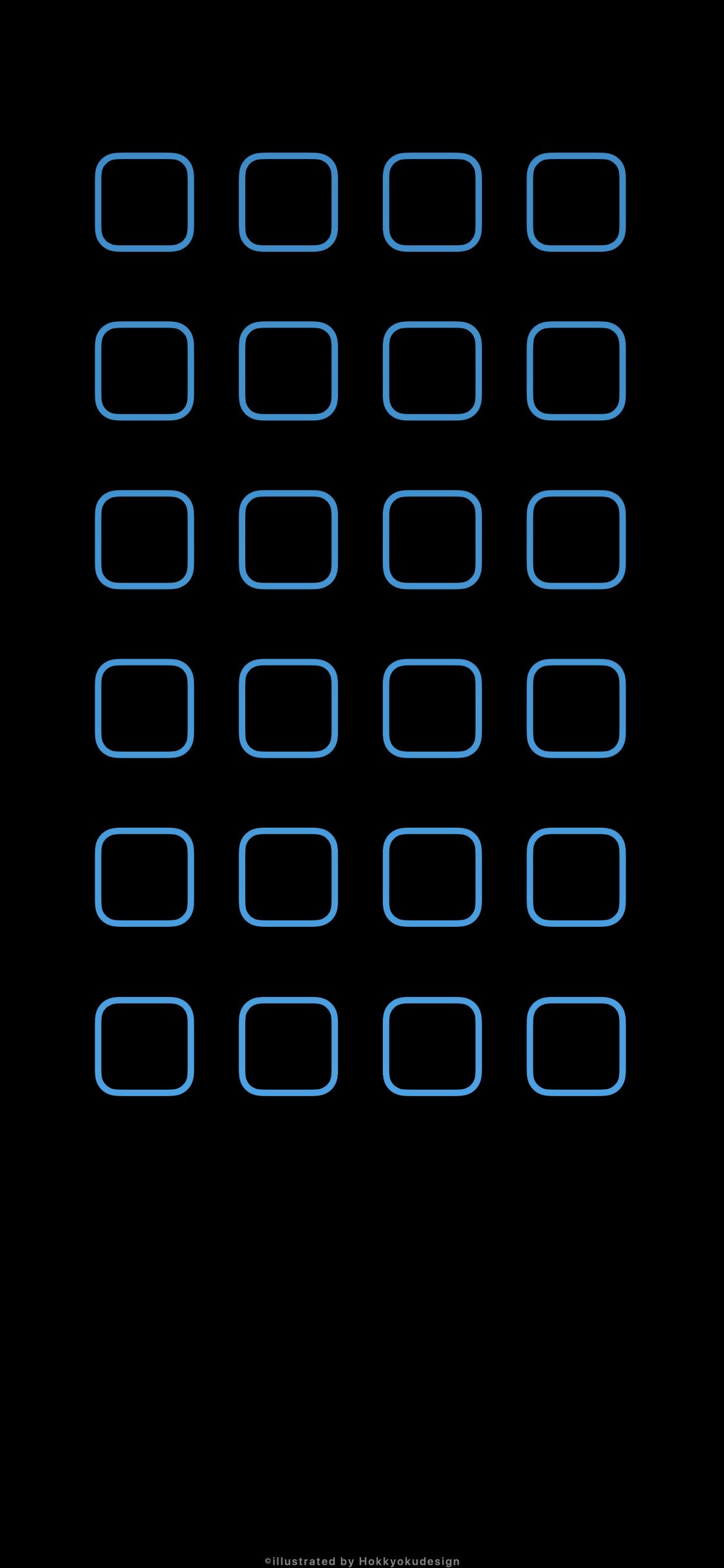 Iphone X壁紙 6 有機el液晶用黒地に青枠