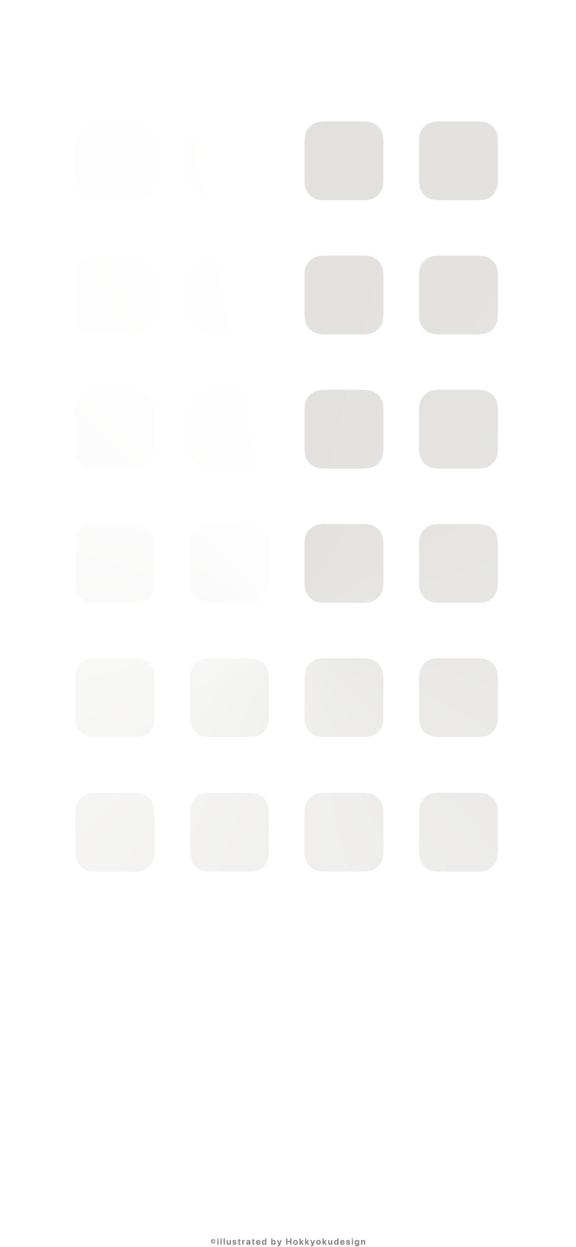Iphone X壁紙 8 白地に渋いいぶし銀