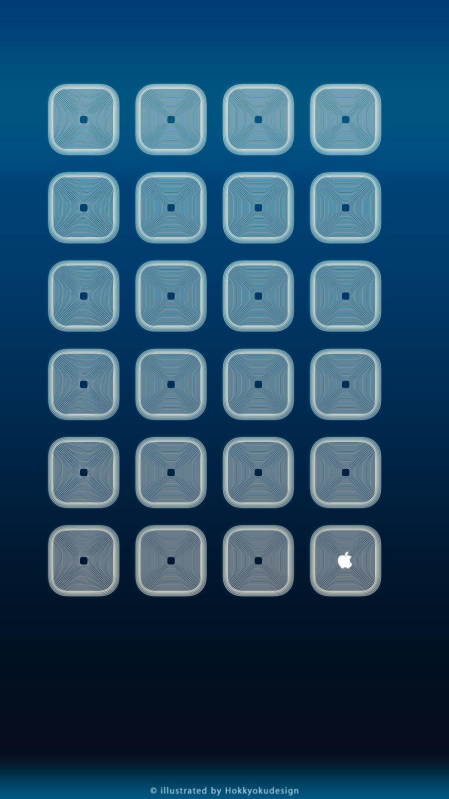 Iphone8 7 6s 6用 動く棚の壁紙 ディープブルー グローホワイト