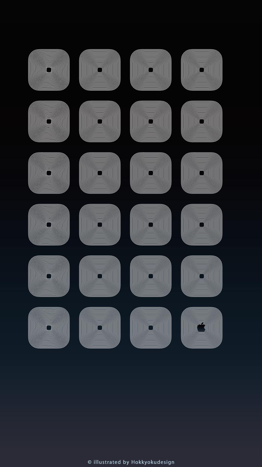 Iphone8 7 6s 6用 動く棚の壁紙 ブルーブラック ホワイト Wallpaper To Iphone6 Shelf Type Moving Wallpaper
