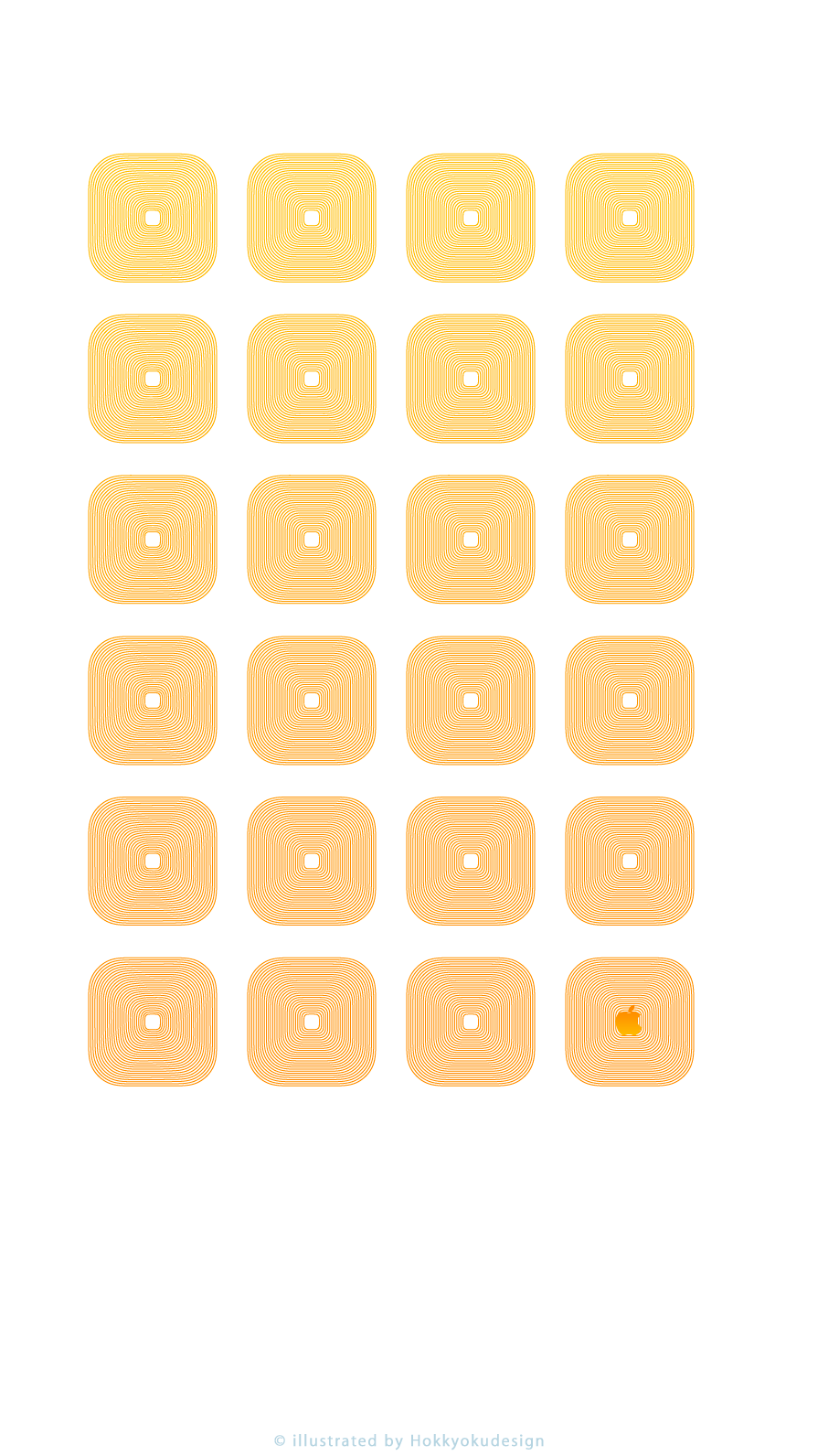Iphone8 7 6s 6用 動く棚の壁紙 オレンジ ホワイト Wallpaper To