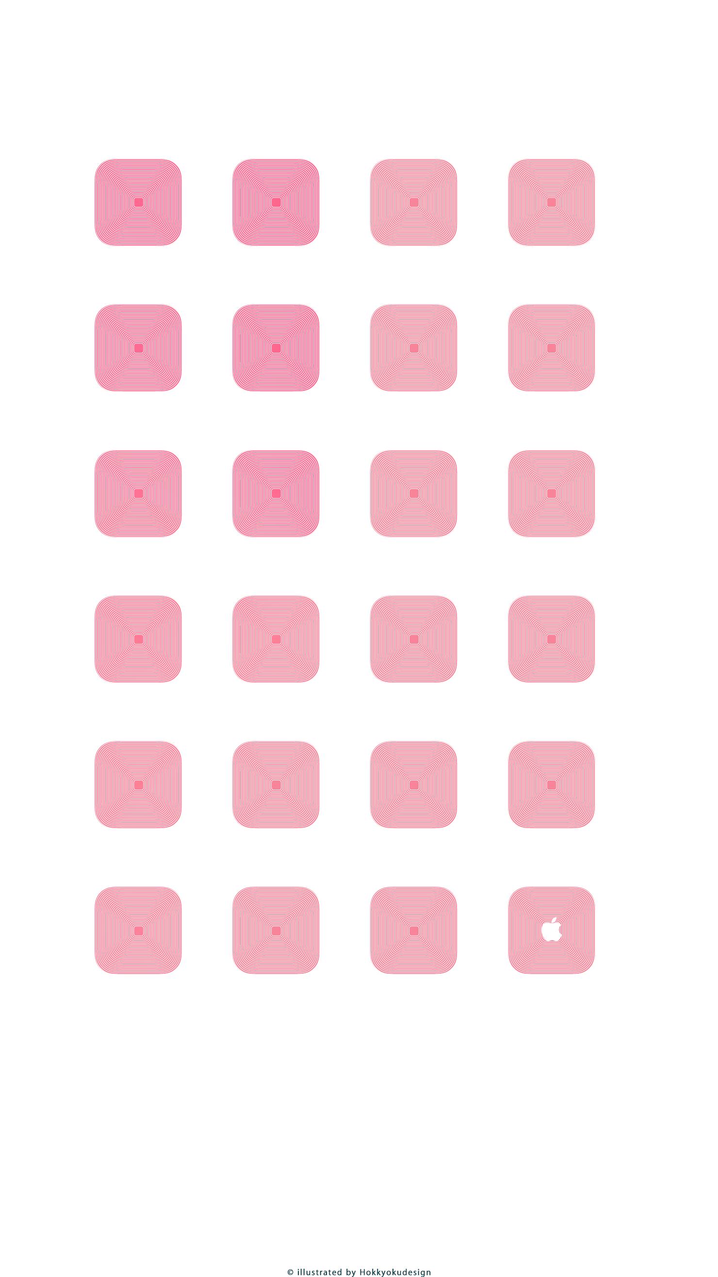 Iphone6 Plus専用 動く棚の壁紙 ピンク ホワイト Wallpaper To