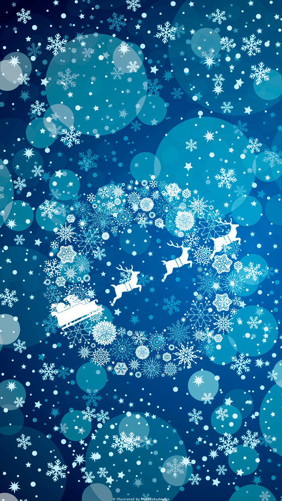 Iphone christmas wallpaper christmas wreath snow crystal winter voltagebd Image collections