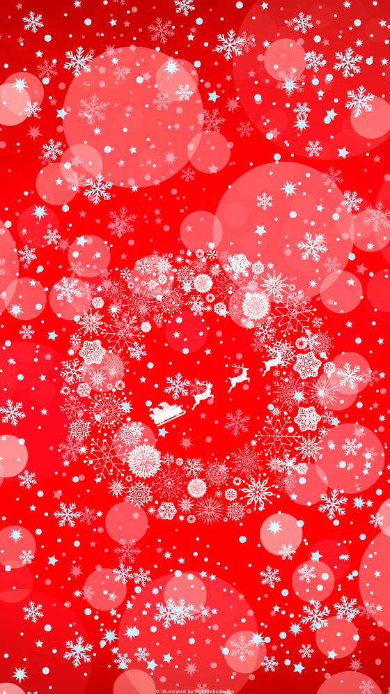 Iphone christmas wallpaper christmas wreath red snow crystal voltagebd Image collections