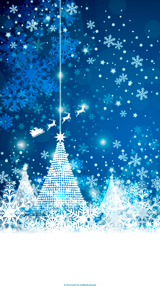 Iphone Christmas Wallpaper Quot Christmas Tree Amp Snow Crystal