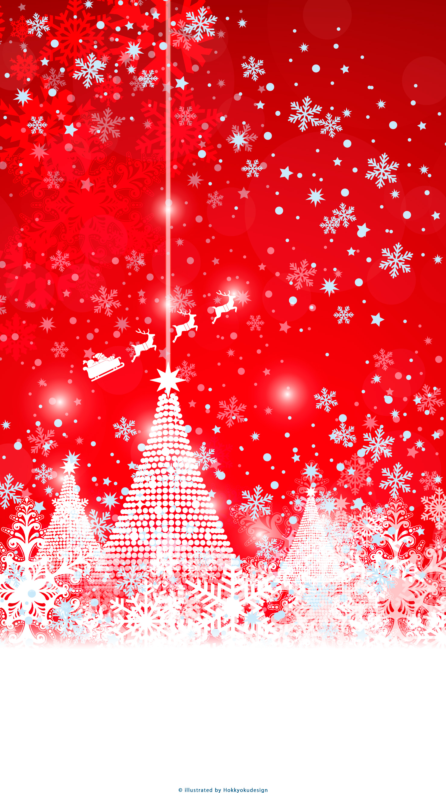 Iphone Christmas Red Wallpaper Christmas Tree Snow Crystal Santa Claus Winter Iphone Wallpaper