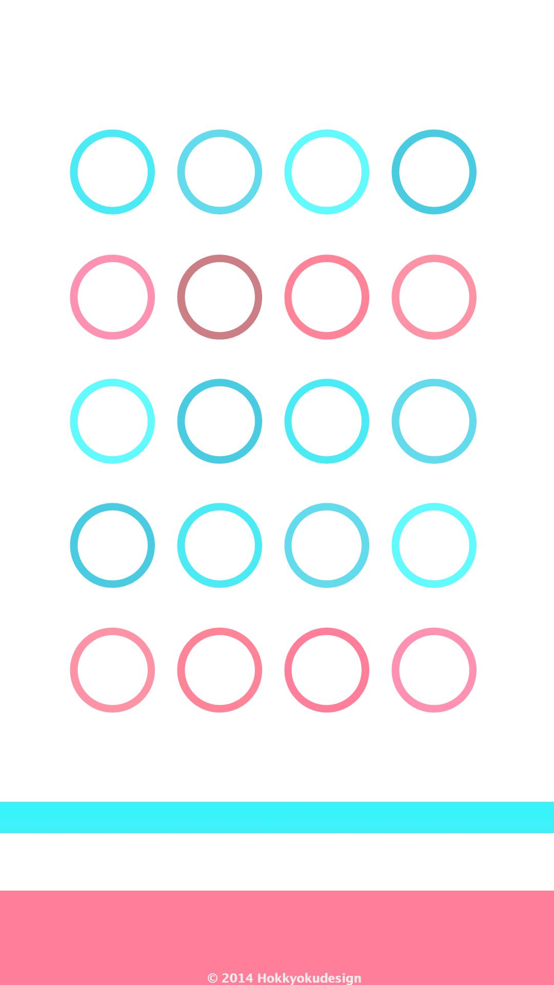 Ios Iphone画面用待受け壁紙 棚とドックにシアン ローズ 輪 Circle Wallpaper Iphone