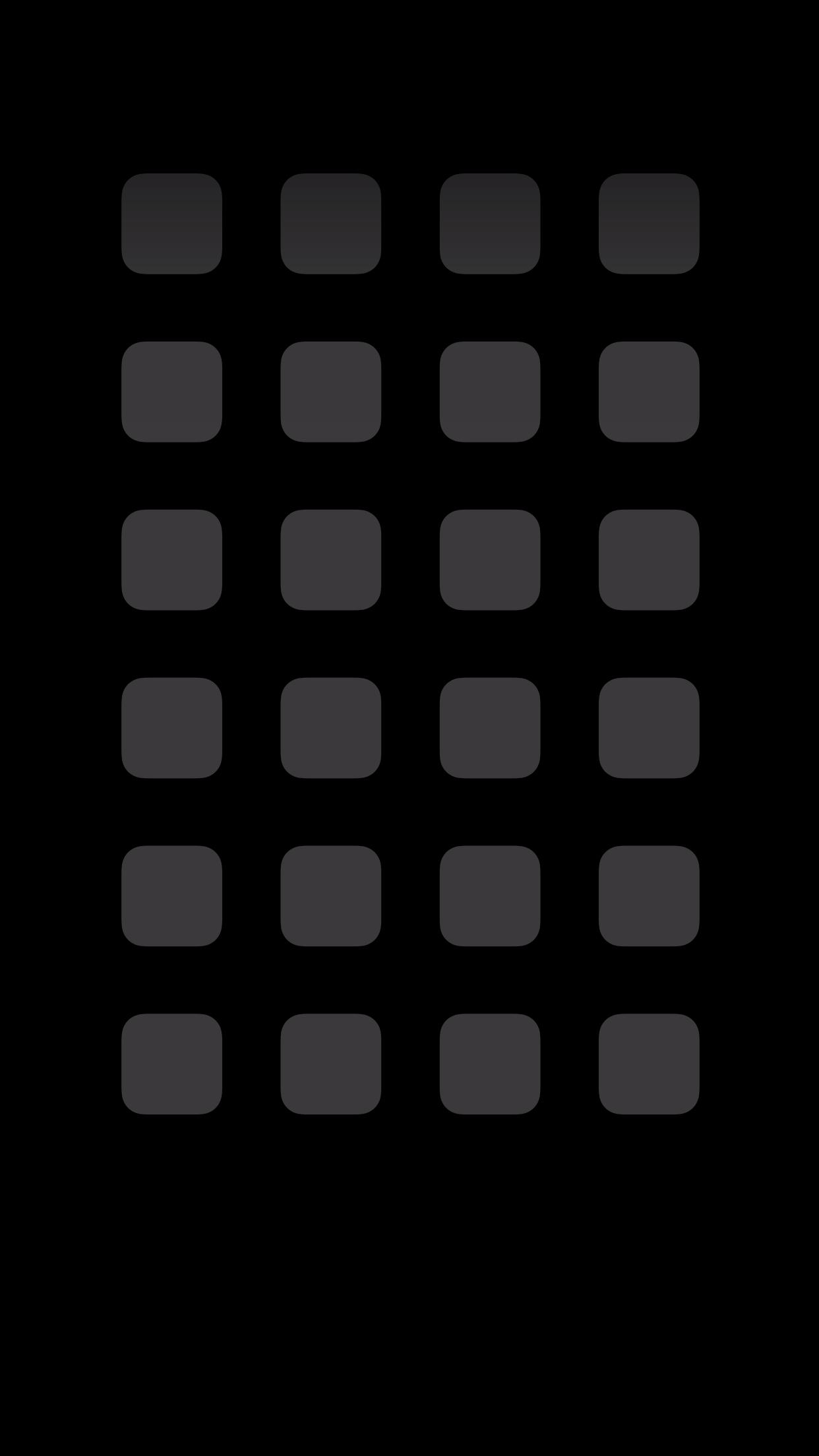 iPhone6 Plus 動く棚の壁紙 ブラック&ブラック