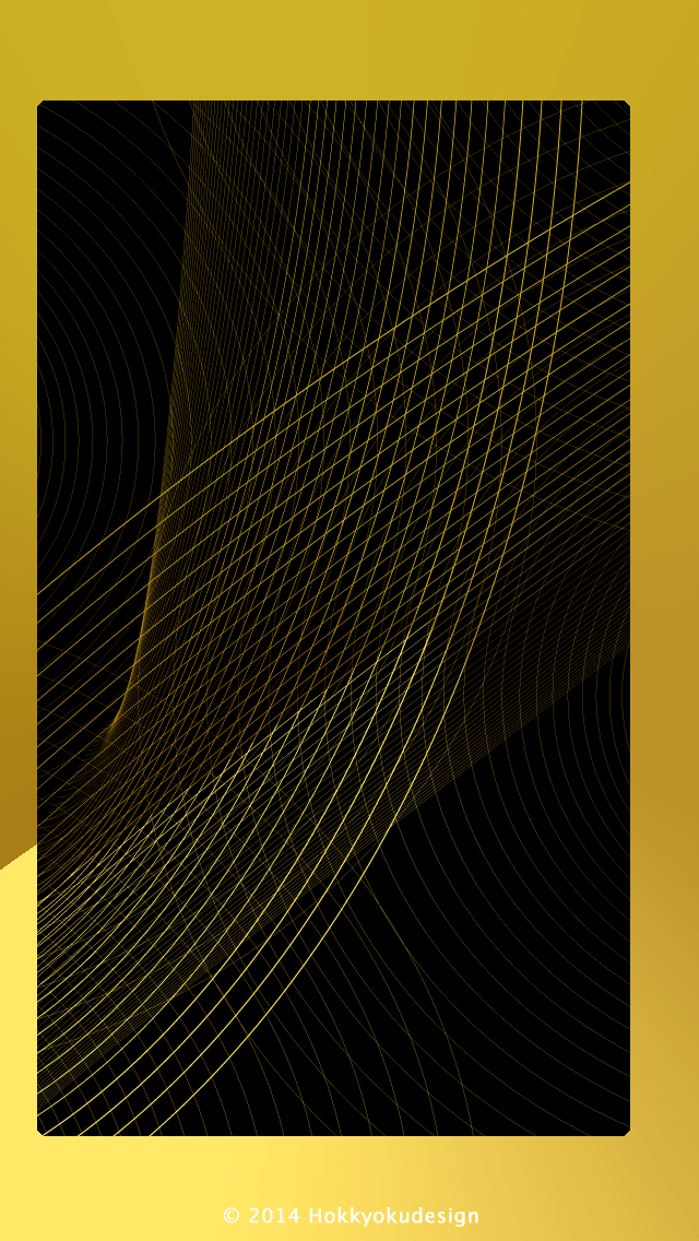 ios11 iphone壁紙 line ゴールドブラック black and gold line