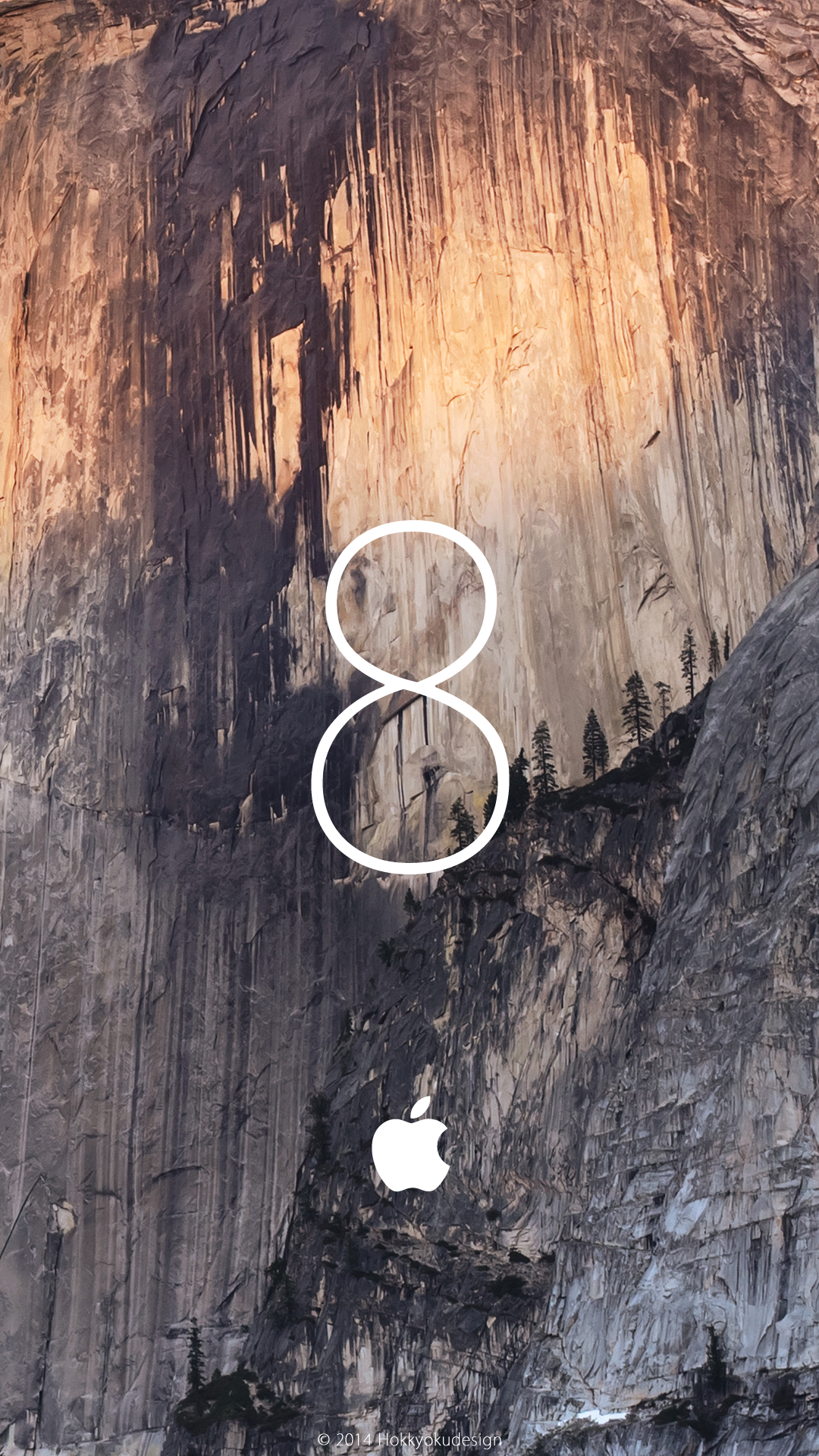 Ios Hd壁紙 Yosemite With 8 And Applemark Under Ios8 Yosemite Wallpaper For Iphone