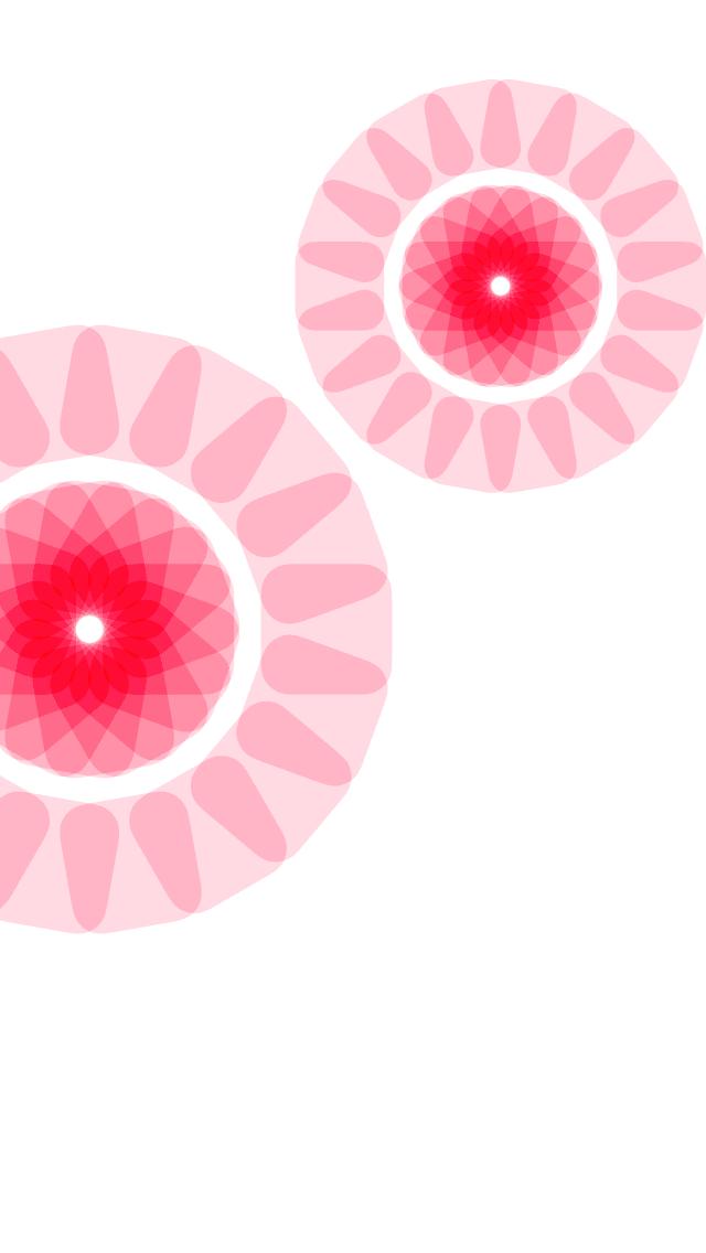 Ios ドックが消える壁紙 透明なピンクの花 Wallpaper To Hide Iphone