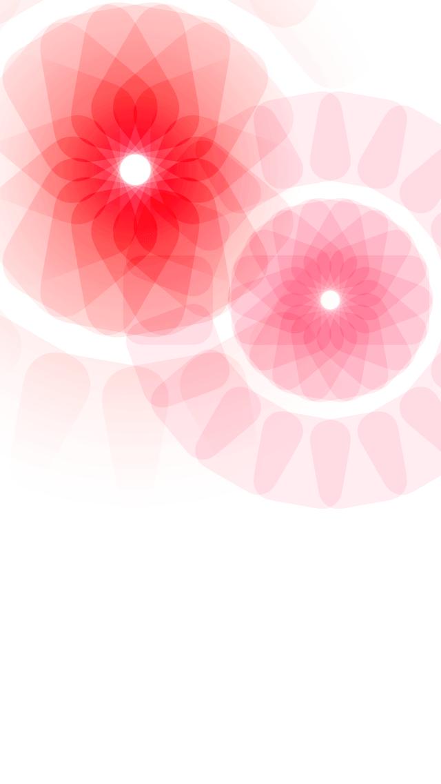 Ios ドックが消える壁紙 透明なピンクの花2 Wallpaper To Hide Iphone